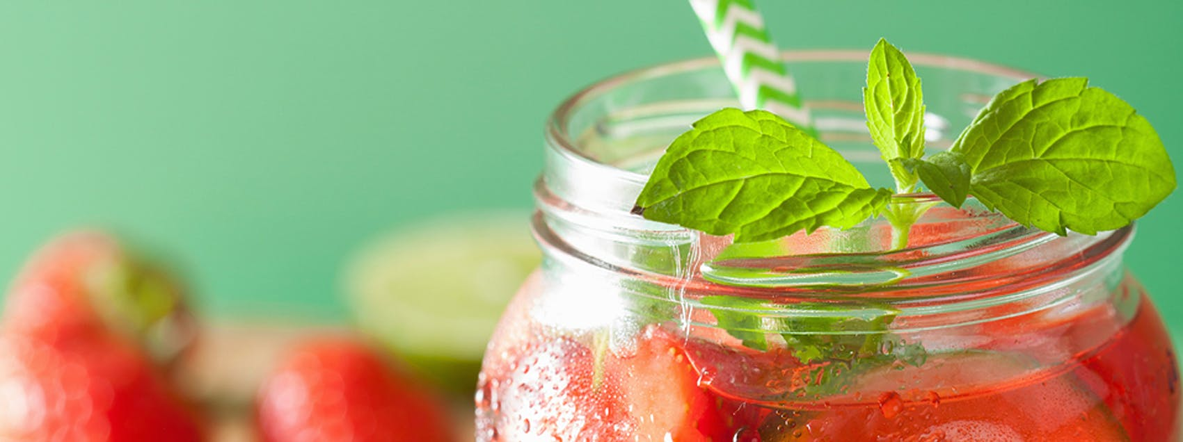 Strawberry Basil Fizz