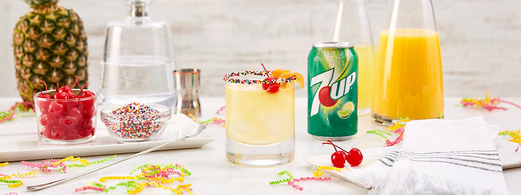 7UP Side Down Cocktail