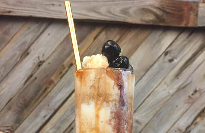 Old Fashioned Bourbon Float