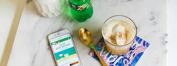 7UP Pineapple Rum Float