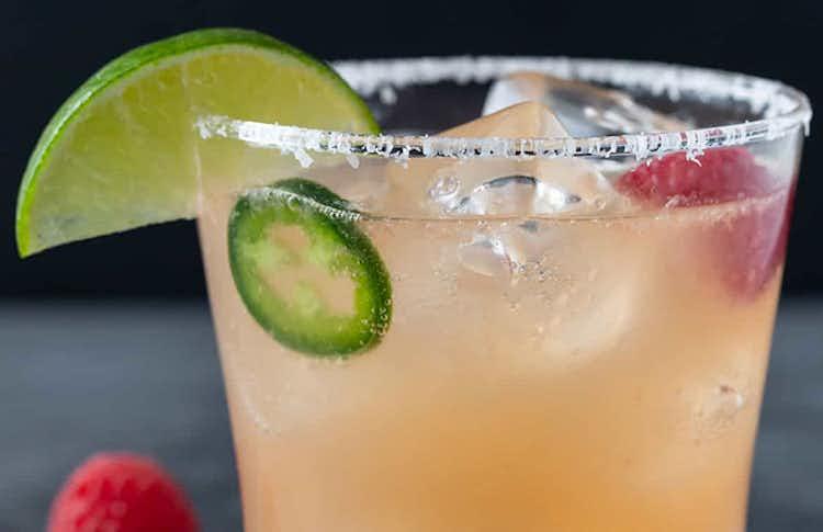 Raspberry Jalapeño Paloma Cocktail