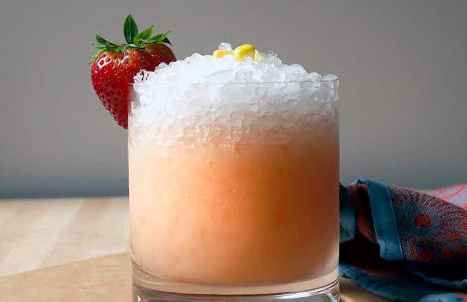 Sweet Corn and Strawberry Smash